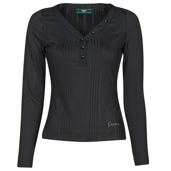 Abbigliamento Donna T-shirts a maniche lunghe Guess LS URSULA TOP Nero