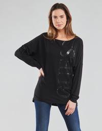 Abbigliamento Donna T-shirts a maniche lunghe Guess LS KAROLINA TEE Nero