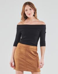 Abbigliamento Donna T-shirts a maniche lunghe Guess DAYNA OFF SHOULDER SWTR Nero