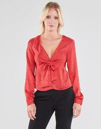 Abbigliamento Donna Top / Blusa Guess NEW LS GWEN TOP Rosso / Bianco
