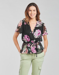 Abbigliamento Donna Top / Blusa Guess SS NEREA TOP Nero / Multicolore