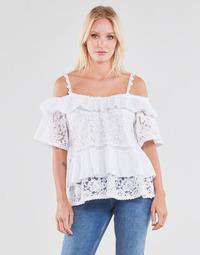 Abbigliamento Donna Top / Blusa Guess SS NEW OLIMPIA TOP Bianco