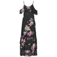 Abbigliamento Donna Abiti lunghi Guess AGATHE DRESS Nero / Multicolore
