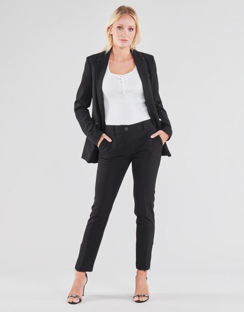 Abbigliamento Donna Pantaloni 5 tasche Guess ZOE PANTS Nero