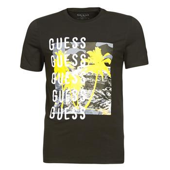 Abbigliamento Uomo T-shirt maniche corte Guess CAMUSPACE CN SS TEE Nero / Multicolore