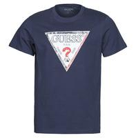 Abbigliamento Uomo T-shirt maniche corte Guess TRIESLEY CN SS TEE Marine