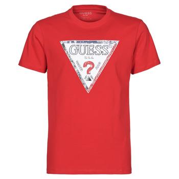 Abbigliamento Uomo T-shirt maniche corte Guess TRIESLEY CN SS TEE Rosso
