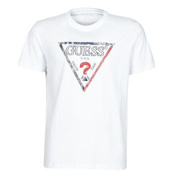 Abbigliamento Uomo T-shirt maniche corte Guess TRIESLEY CN SS TEE Bianco