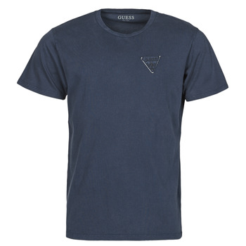Abbigliamento Uomo T-shirt maniche corte Guess LOGO ORGANIC BASIC CN SS TEE Marine