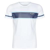 Abbigliamento Uomo T-shirt maniche corte Guess CN SS TEE Bianco / Marine