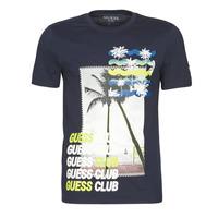 Abbigliamento Uomo T-shirt maniche corte Guess GUESS CLUB CN SS TEE Marine