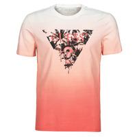 Abbigliamento Uomo T-shirt maniche corte Guess PALM BEACH CN SS TEE Rosso