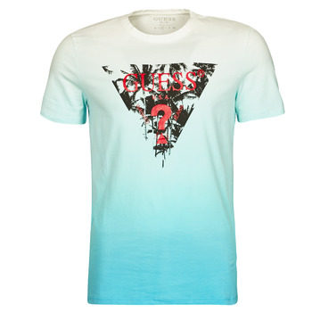 Abbigliamento Uomo T-shirt maniche corte Guess PALM BEACH CN SS TEE Blu
