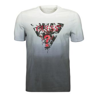 Abbigliamento Uomo T-shirt maniche corte Guess PALM BEACH CN SS TEE Nero