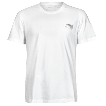 Abbigliamento Uomo T-shirt maniche corte Guess ORGANIC BASIC CN SS TEE Bianco