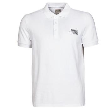 Abbigliamento Uomo Polo maniche corte Guess OZ SS POLO Bianco
