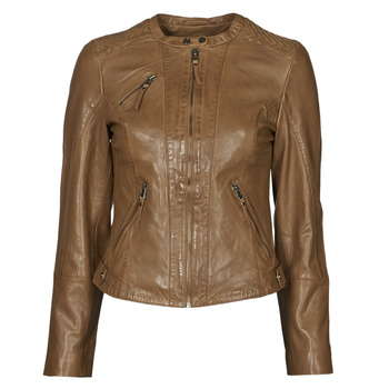 Abbigliamento Donna Giacca in cuoio / simil cuoio Naf Naf CTRIBE M Cognac