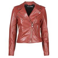 Abbigliamento Donna Giacca in cuoio / simil cuoio Naf Naf CHACHA P Rosso