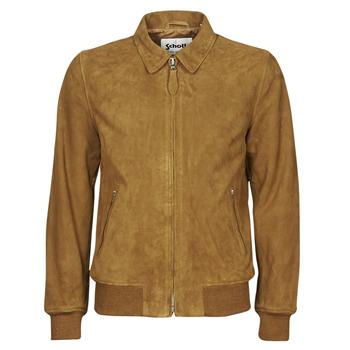 Abbigliamento Uomo Giacca in cuoio / simil cuoio Schott LC YALES S Cognac