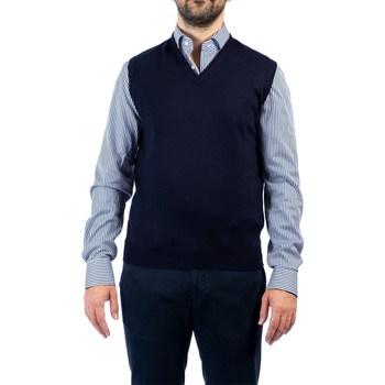 Abbigliamento Uomo Gilet / Cardigan La Fileria 55127/14290 598 BLU Maglia Uomo Uomo Blu Blu