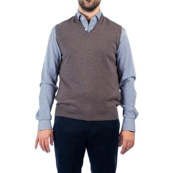 Abbigliamento Uomo Gilet / Cardigan La Fileria 55127/14290 046 TOR Maglia Uomo Uomo Tortora Tortora