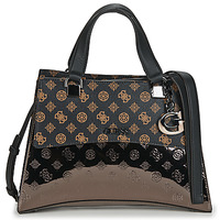 Borse Donna Borse a mano Guess DALMA GIRLFRIENF SATCHEL Marrone / Nero