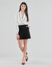 Abbigliamento Donna Tuta jumpsuit / Salopette Morgan SHAMIE Nero / Bianco