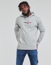 Abbigliamento Uomo Felpe Tommy Jeans TJM LINEAR LOGO HOODIE Grigio