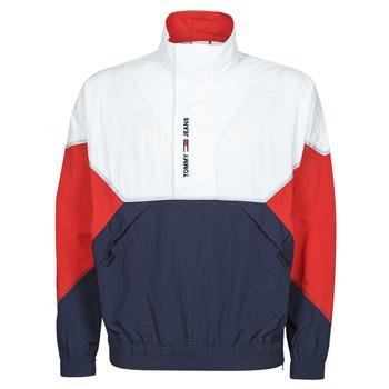 Abbigliamento Uomo Giubbotti Tommy Jeans TJM LIGHTWEIGHT POPOVER JACKET Bianco / Rosso / Marine