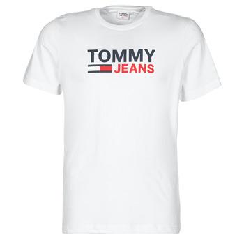 Abbigliamento Uomo T-shirt maniche corte Tommy Jeans TJM CORP LOGO TEE Bianco