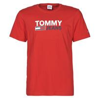 Abbigliamento Uomo T-shirt maniche corte Tommy Jeans TJM CORP LOGO TEE Rosso