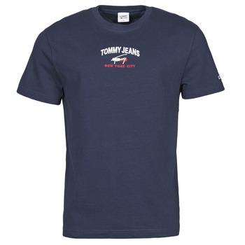 Abbigliamento Uomo T-shirt maniche corte Tommy Jeans TJM TIMELESS TOMMY SCRIPT TEE Marine