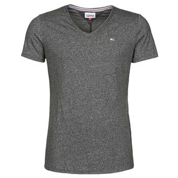 Abbigliamento Uomo T-shirt maniche corte Tommy Jeans TJM SLIM JASPE V NECK Nero