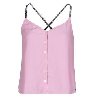 Abbigliamento Donna Top / Blusa Tommy Jeans TJW CAMI TOP BUTTON THRU Rosa