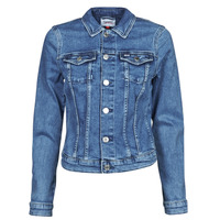 Abbigliamento Donna Giacche in jeans Tommy Jeans VIVIANNE SLIM DENIM TRUCKER NMBS Blu / Medium