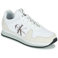 Scarpe Uomo Sneakers basse Calvin Klein Jeans RUNNER SOCK LACEUP NY-LTH Bianco