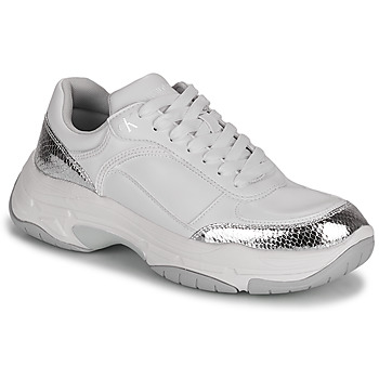 Scarpe Donna Sneakers basse Calvin Klein Jeans CHUNKY SOLE LACEUP PU-PYT PES Bianco / Argento