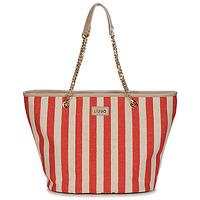 Borse Donna Tote bag / Borsa shopping Liu Jo SICURA XL TOTE Beige / Rosso