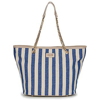Borse Donna Tote bag / Borsa shopping Liu Jo SICURA XL TOTE Beige / Blu