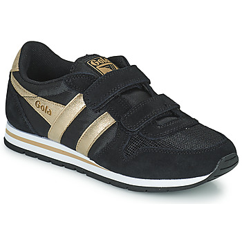 Scarpe Bambina Sneakers basse Gola DAYTONA MIRROR VELCRO Nero / Oro