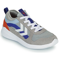 Scarpe Unisex bambino Sneakers basse Hummel BOUNCE JR Grigio / Blu