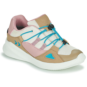 Scarpe Unisex bambino Sneakers basse Hummel BOUNCE RUNNER TEX JR Beige / Rosa