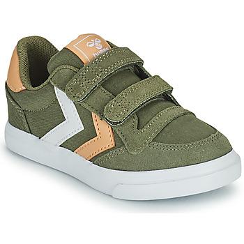 Scarpe Unisex bambino Sneakers basse Hummel STADIL LOW JR Verde