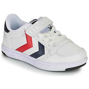 Scarpe Unisex bambino Sneakers basse Hummel STADIL LIGHT QUICK JR Bianco