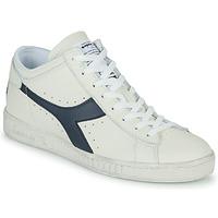 Scarpe Sneakers alte Diadora GAME L WAXED ROW CUT Bianco