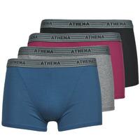 Biancheria Intima  Uomo Boxer Athena BASIC COTON  X4 Grigio / Bordeaux / Blu / Nero