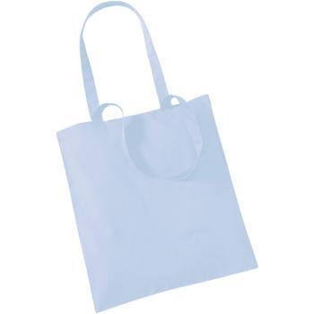 Borse Tote bag / Borsa shopping Westford Mill W101 Azzurro pastello