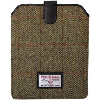 Borse Uomo Porta Documenti Harris Tweed  Verde Khaki