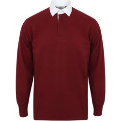Abbigliamento Uomo Polo maniche lunghe Front Row FR100 Bordeaux/Bianco