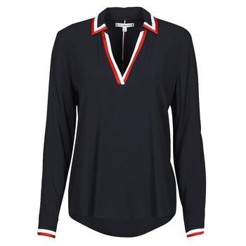 Abbigliamento Donna Top / Blusa Tommy Hilfiger VISCOSE HER POPOVER BLOUSE LS Marine